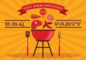 Vecteur d'affiche barbecue rétro