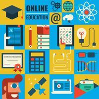 e-learning vecteur