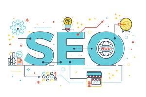 SEO: optimisation des moteurs de recherche vecteur