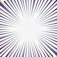 Lignes de vitesse radiale fond mouvement rapide avec demi-teinte cercles. vecteur