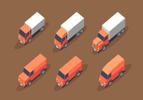Isométrique Van Truck Clip Art Vecteur