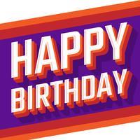 Carte Vintage joyeux anniversaire rétro vecteur