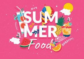 Vecteur d'aliments d'été