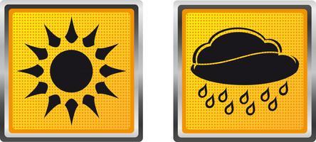 icônes météo pour illustration vectorielle de conception
