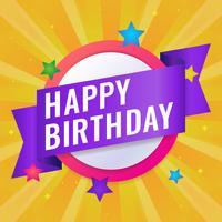 Joyeux anniversaire cartes de vœux Vector Illustration