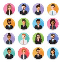 Avatars des hommes et femmes d'affaires.