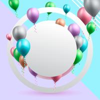 illustration vectorielle de célébration anniversaire fond