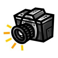 Icône de vecteur de caméra de photographie
