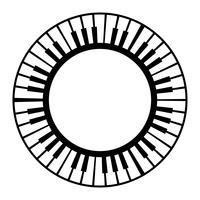 Icône de vecteur Instrument de musique clavier clavier