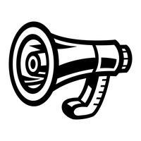 Alerte d'annonce de porte-voix de mégaphone