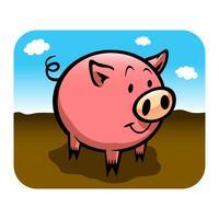 Illustration vectorielle de cochon dessin animé