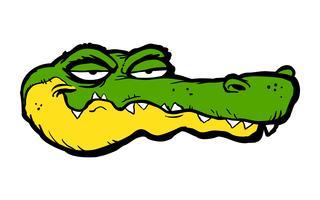 Illustration de dessin animé d'alligator