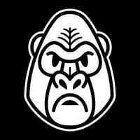 Visage de singe gorille