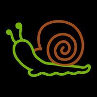 Illustration de dessin animé d'escargot vecteur