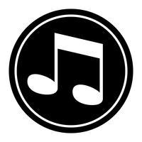 Icône de vecteur de notes de musique
