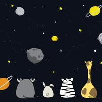 Vecteur animal et univers