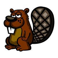 Illustration de dessin animé de castor vecteur