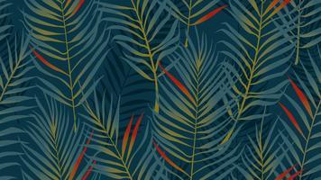 Modèle sans couture de feuilles de noix de coco vecteur