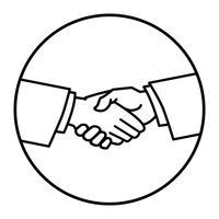 Illustration vectorielle poignée de main vecteur
