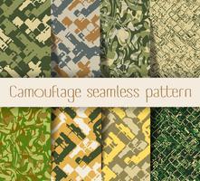 Camouflage modèle sans couture vecteur