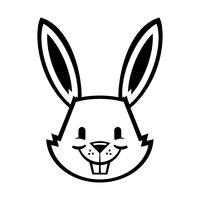 Graphique de lapin de dessin animé vecteur
