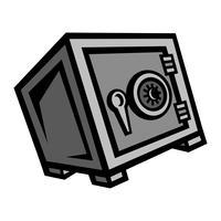 Icône de vecteur Metal Security Safe Lock