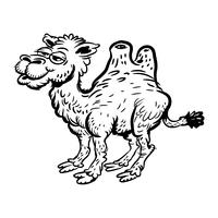 Caricature de chameau vecteur