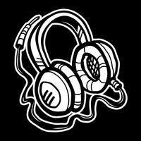 Icône de vecteur casque musique accessoire