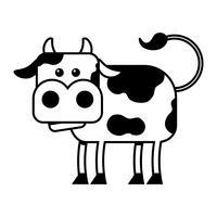 Illustration de dessin animé de vache vector
