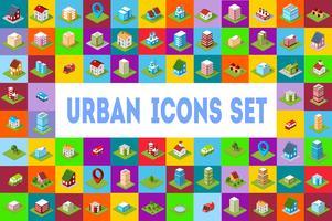 icônes ville isométrique