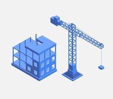 Construire des maisons vecteur