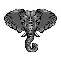 Illustration d'éléphant dessin animé en colère