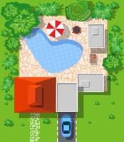 Vue de dessus des maisons vecteur
