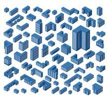 bâtiments isométriques vecteur