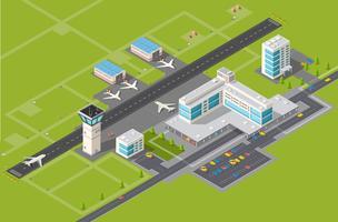 Terminal d'aéroport vecteur