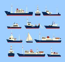 Navires fixés. vecteur