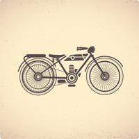 Moto rétro vecteur