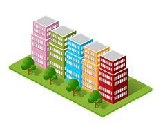 Maisons isométriques, maisons de ville,