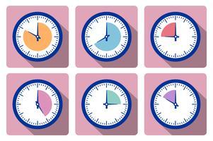 Régler l'horloge avec la minuterie vecteur
