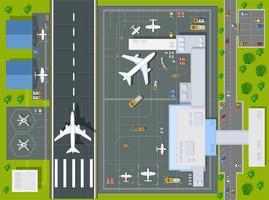 Aéroport point de vue aérien