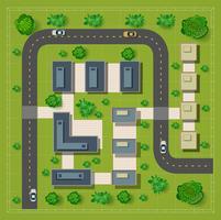Carte d'une vue de dessus des toits vecteur