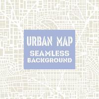 Plan de ville de carte sans soudure