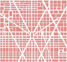 Carte de la ville vecteur