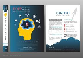 Couvre le vecteur de modèle de conception livre, concept de démarrage d'entreprise.