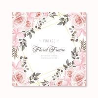 Fond de cadre floral aquarelle Vintage