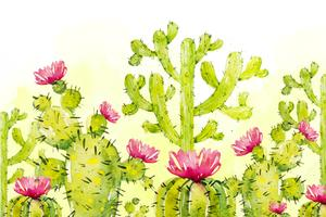 Cactus naturel de fond vecteur