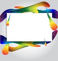 cadres peignent coloré background.vector illustration design vecteur