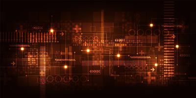 Technologie de fond de vecteur dans le concept du numérique.