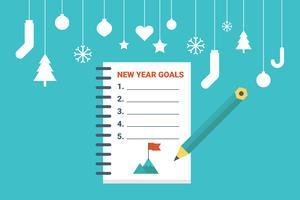 Objectifs du nouvel an vecteur