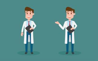 Caractère des médecins masculins.